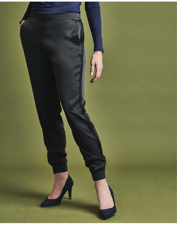 Satin Side Stripe Track Pant