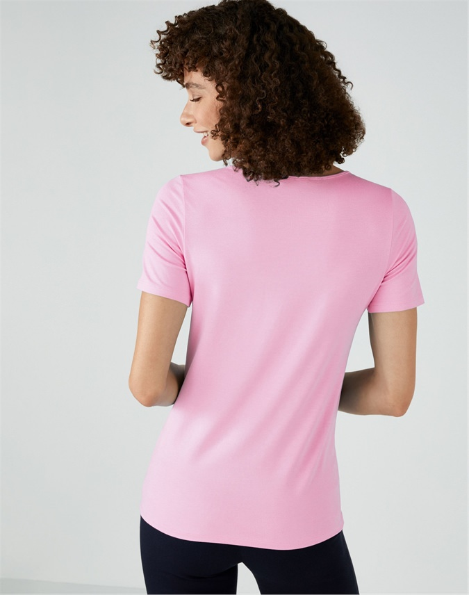 Soft Jersey V Neck Top