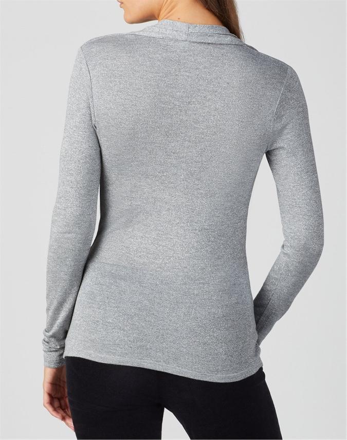 Soft Jersey Wrap Top