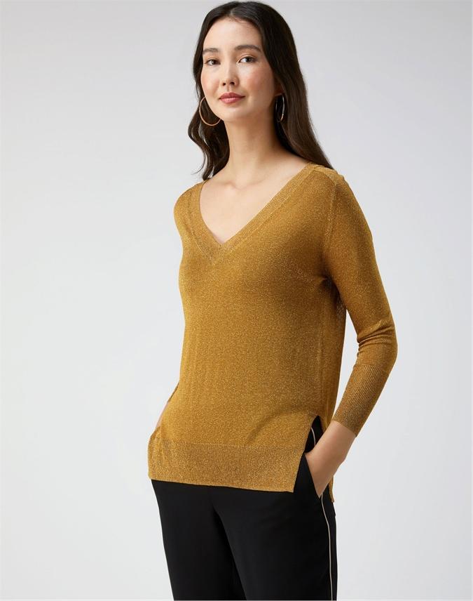 Sparkle V Neck Sweater