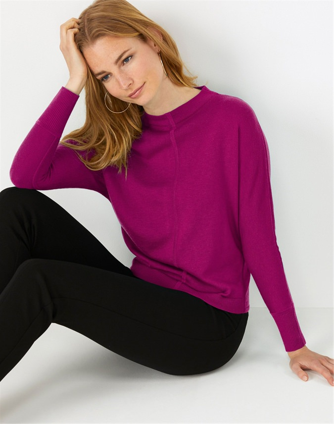 Turtle Neck Batwing Sweater