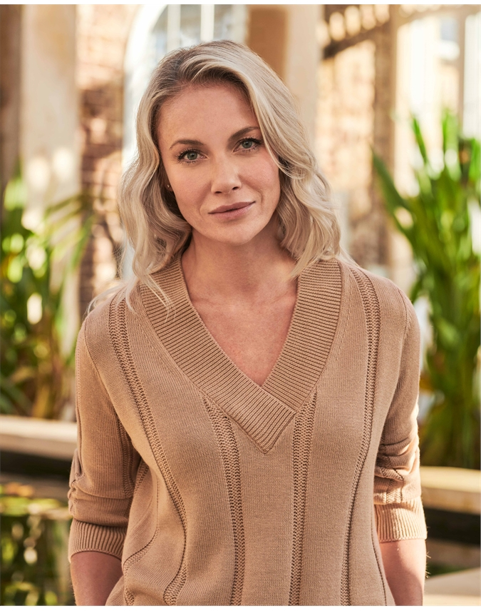 V Neck Cricket Sweater