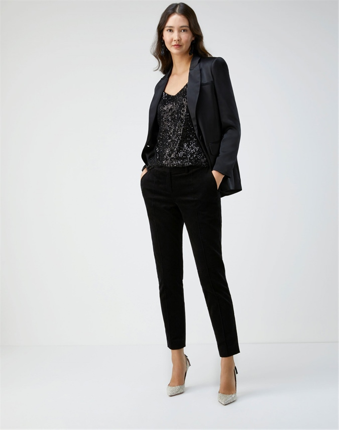 Velvet Tailored Ankle Trouser