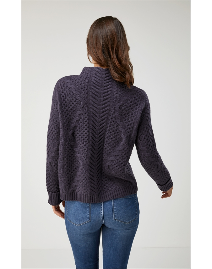 Organic Cashmere Lofty Cable Sweater