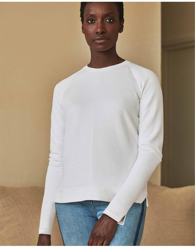 Cotton Contrast Stitch Sweatshirt