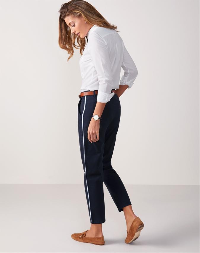 Side Stripe Skinny Trouser