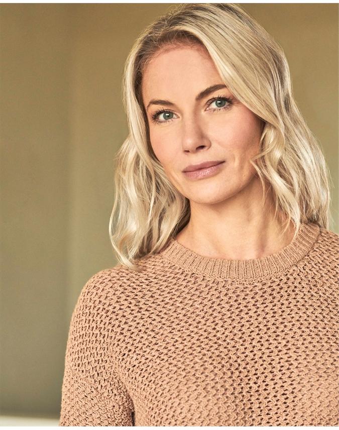 Tape Yarn Textured Sweater