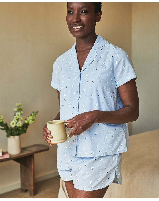 Cotton Short Sleeve Pyjama Set