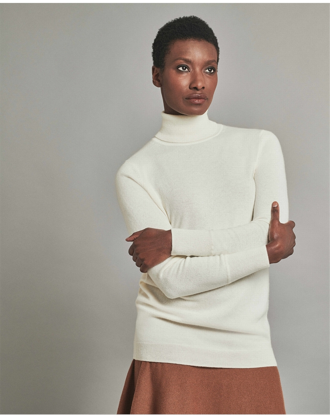 Cashmere Boyfriend Turtle Neck Sweater