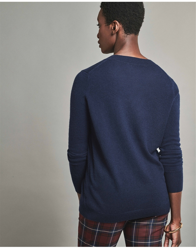 Cashmere Boyfriend V Neck Sweater