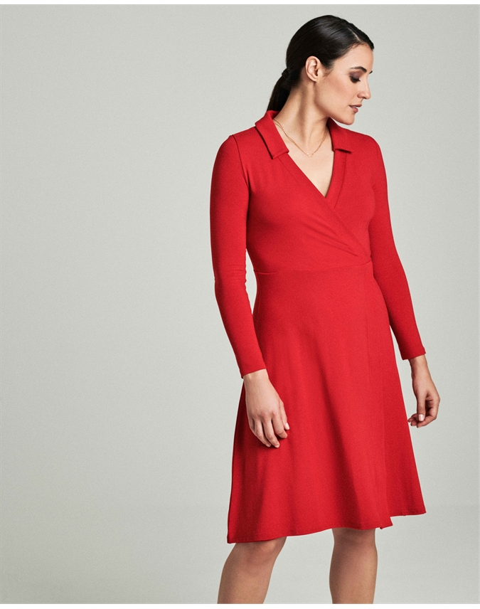 Jersey Collared Dress