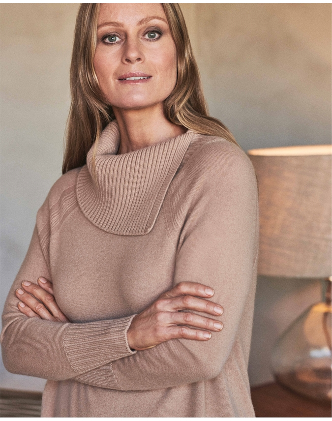 Cashmere Statement Neck Sweater