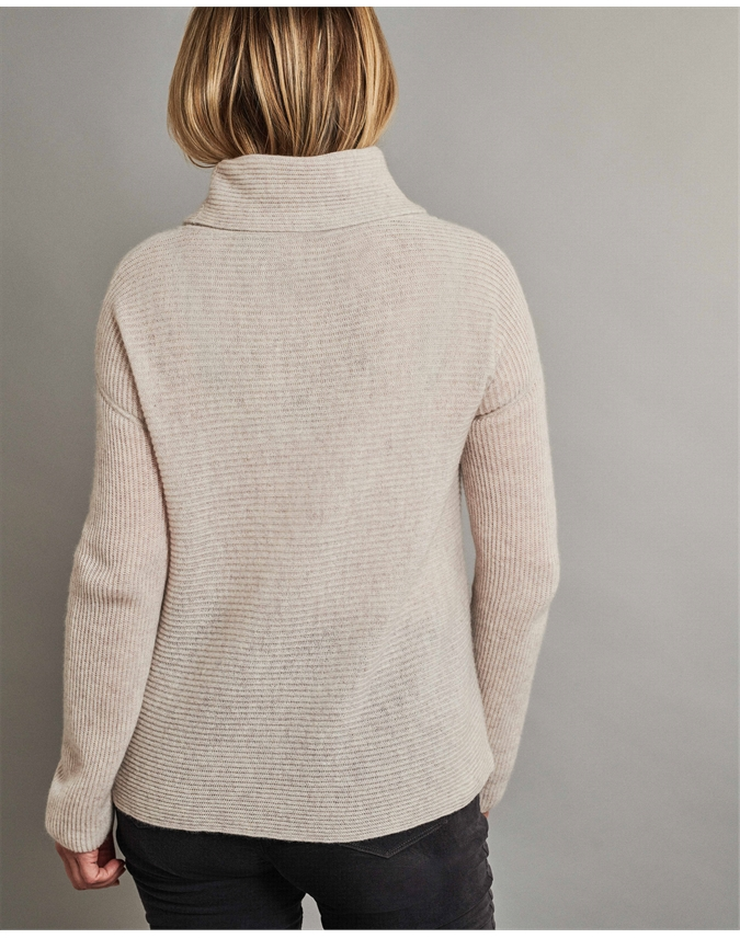 Gassato Ribbed Bardot Sweater