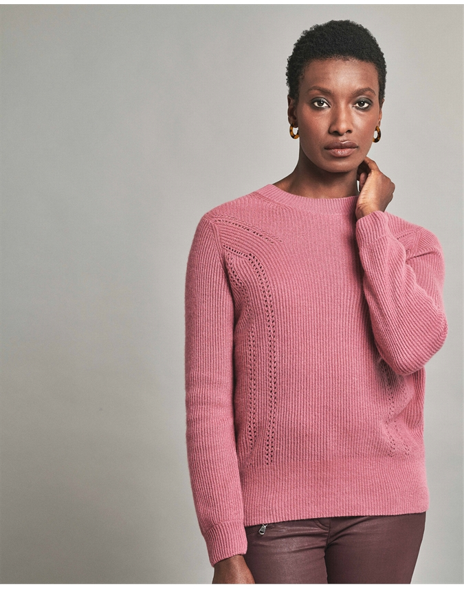 Gassato Ribbed Pointelle Sweater