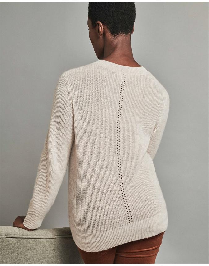 Gassato Ribbed Pointelle Sweater