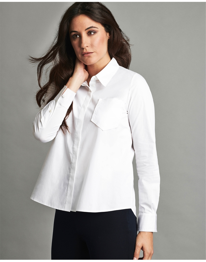Cotton Poplin Swing Shirt