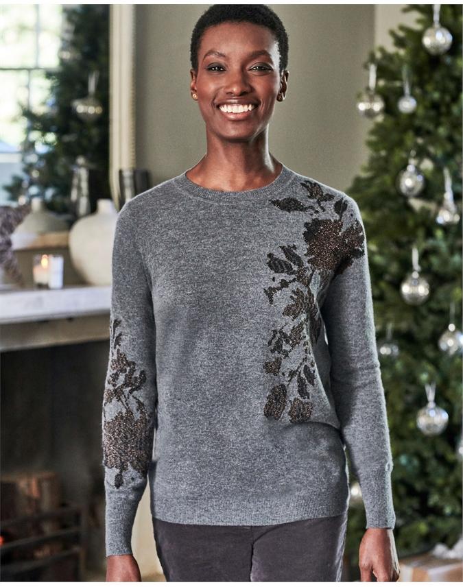 Womens Cashmere Boyfriend Sweater