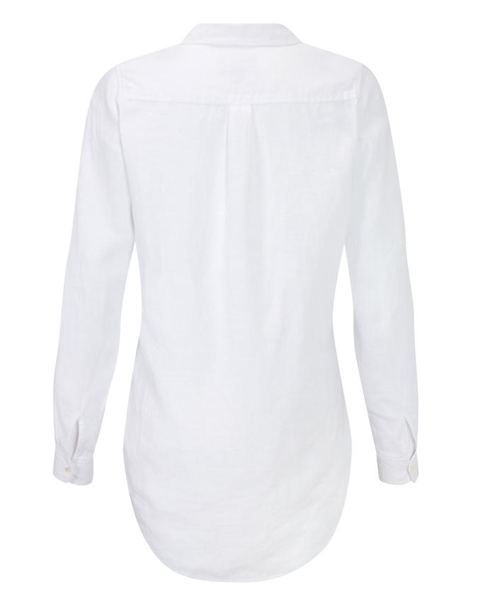 Laundered Linen Longline Shirt