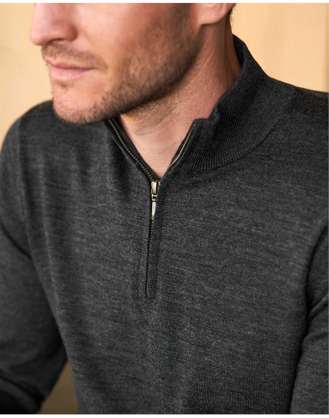 Merino Half Zip Sweater