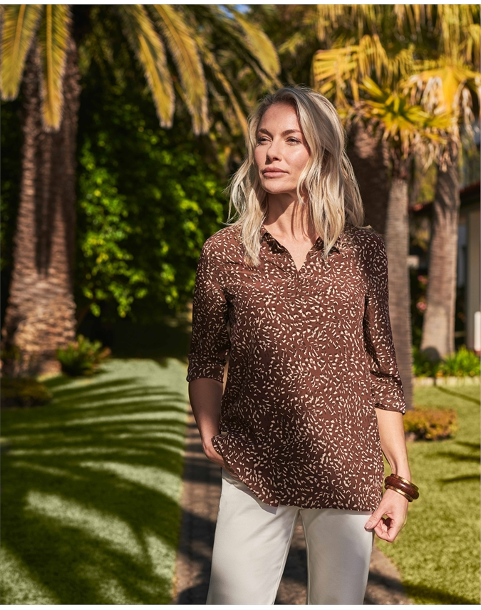 Washed Silk Relaxed Blouse