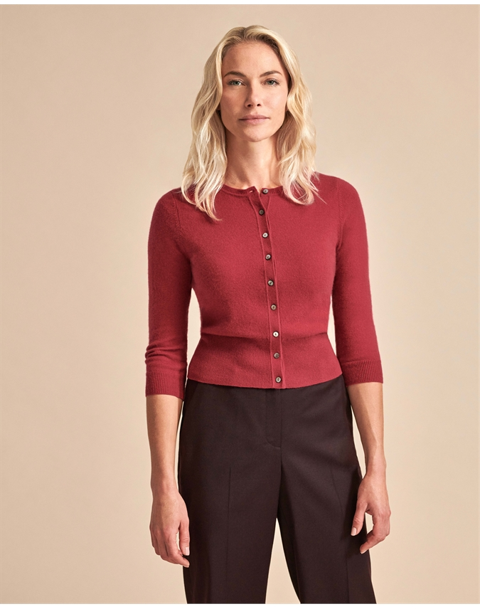 Cashmere Cropped Cardigan