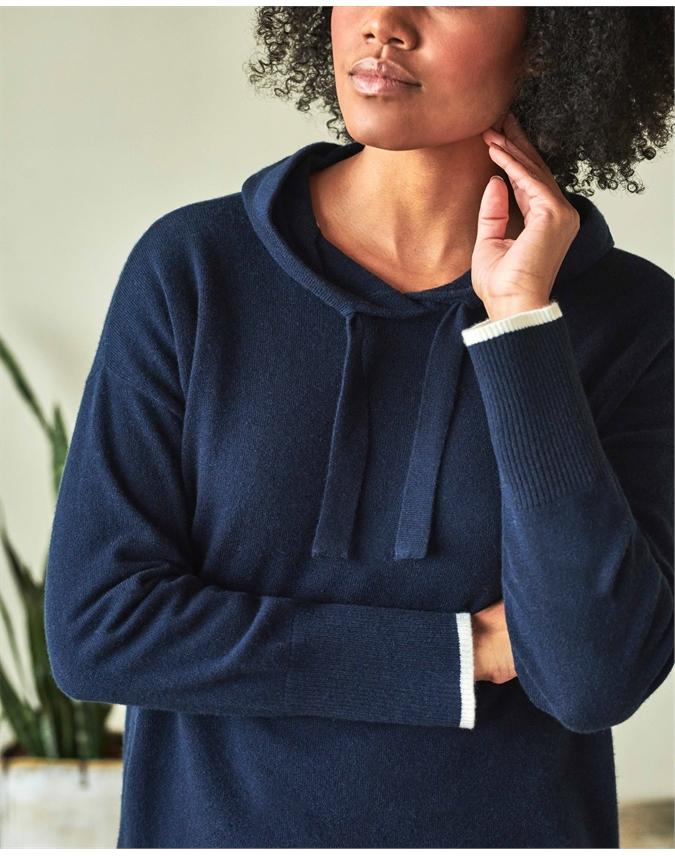 Womens Organic Cashmere Hoodie