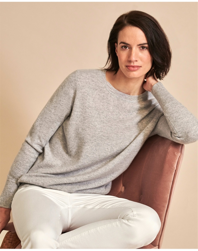 Womens Cashmere Boyfriend Sweater