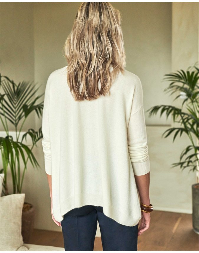 Cashmere Dipped Hem Sweater