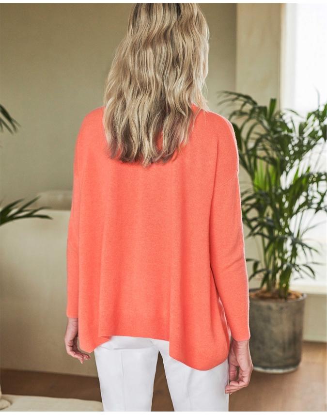 Cashmere Dipped Hem Sweater