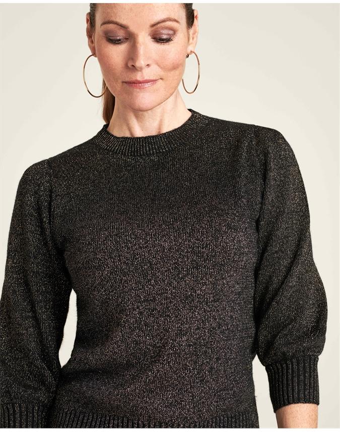 Sparkle Puff Sleeve Sweater