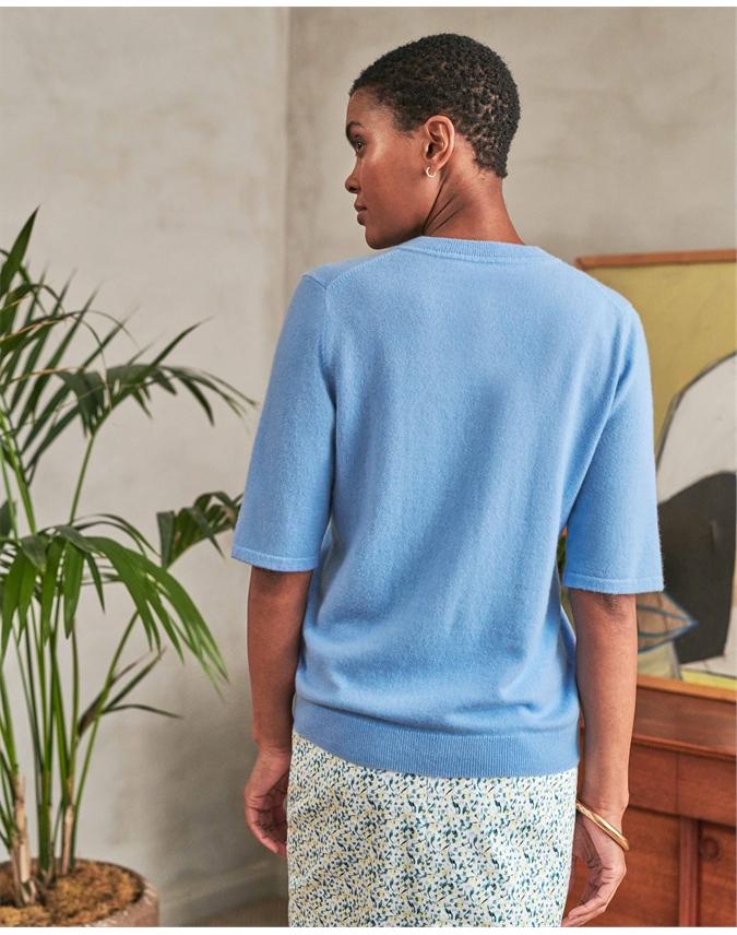 Cashmere V Neck T-Shirt