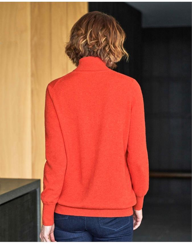 Cashmere Boyfriend Polo Neck Sweater