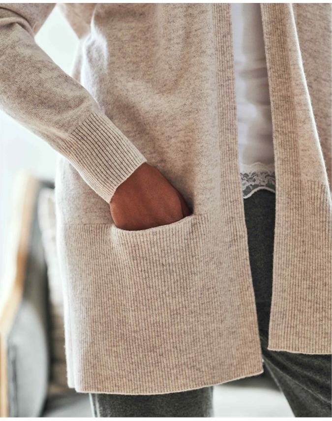 Cashmere Open Wide Cardigan