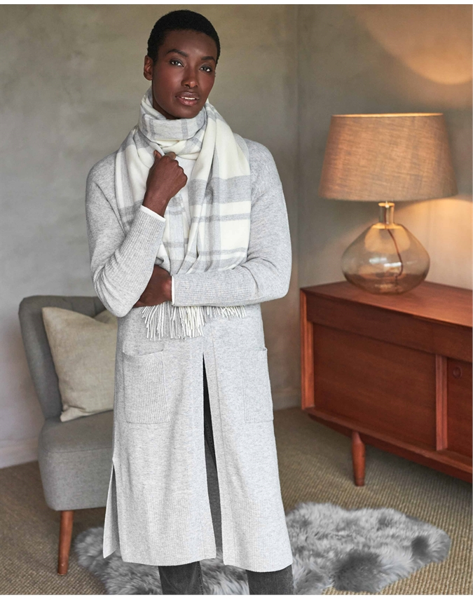 Wool Cashmere Midi Cardigan