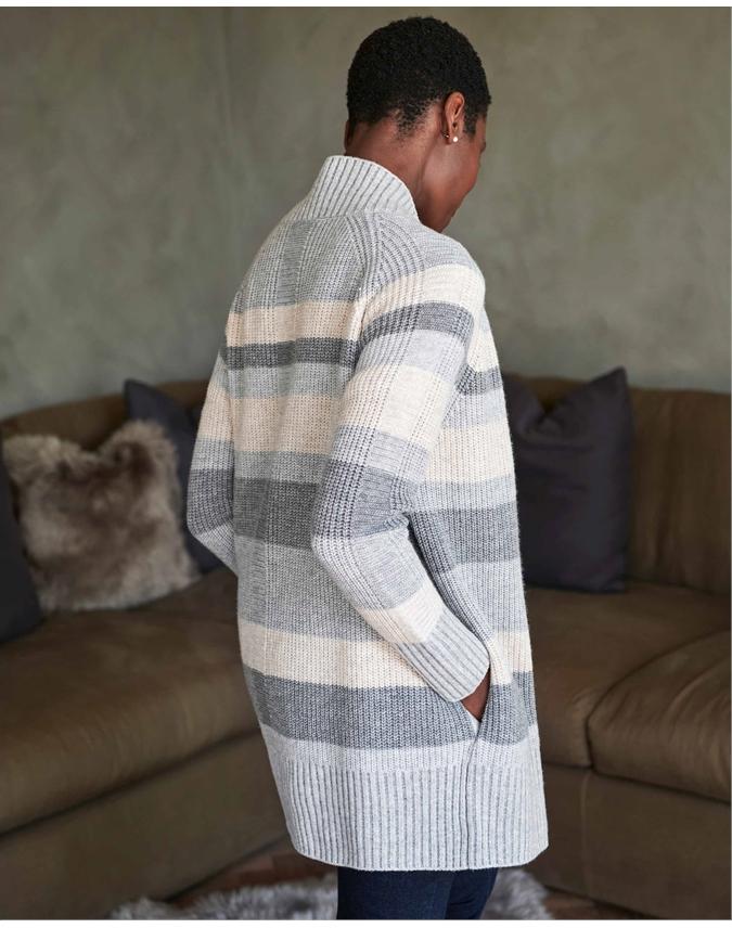 Wool Cashmere Coatigan