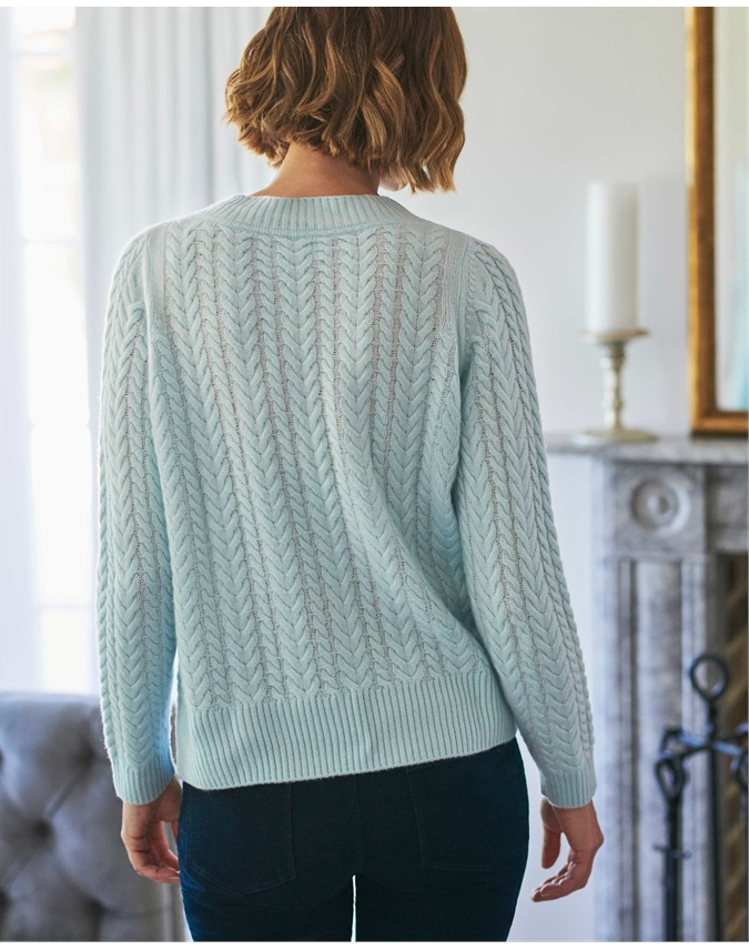Lofty Cashmere Cable Sweater