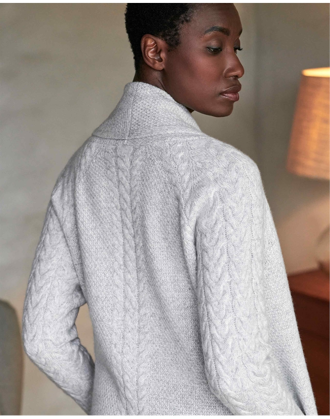Luxury Cashmere Cable Cardigan