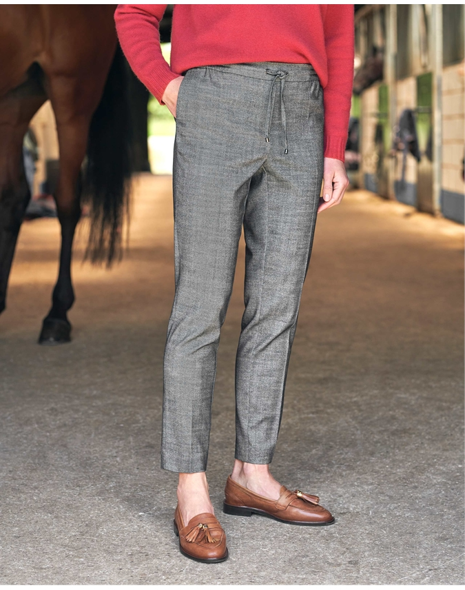 Tie Front Tapered Trousers
