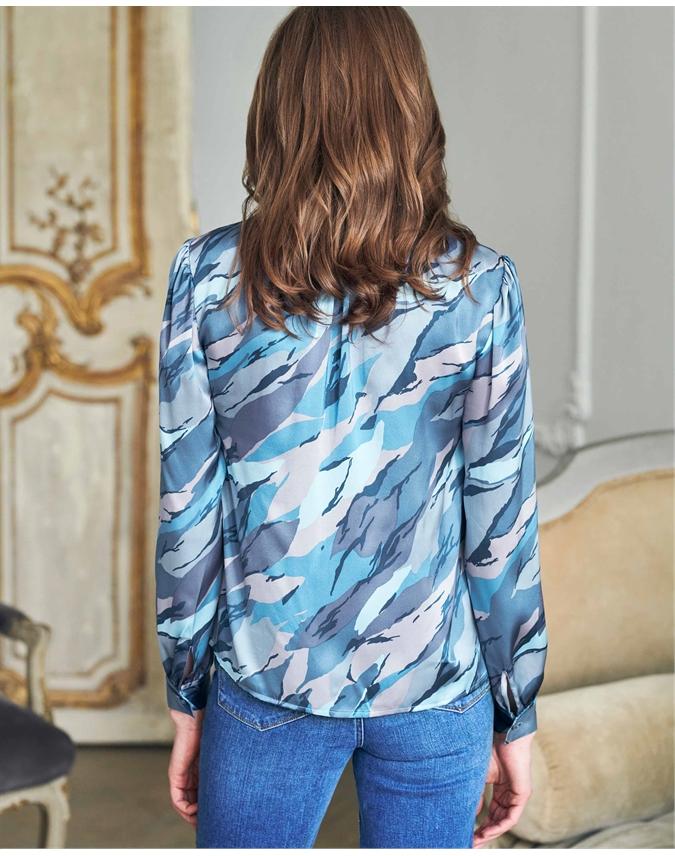Silk Satin Printed Top