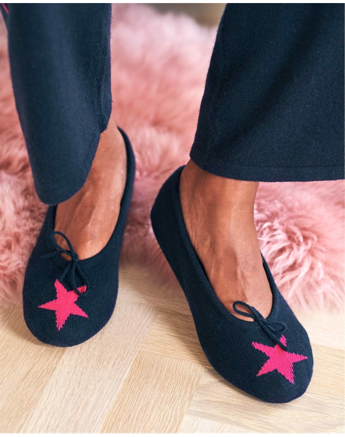 Cashmere Star Slippers