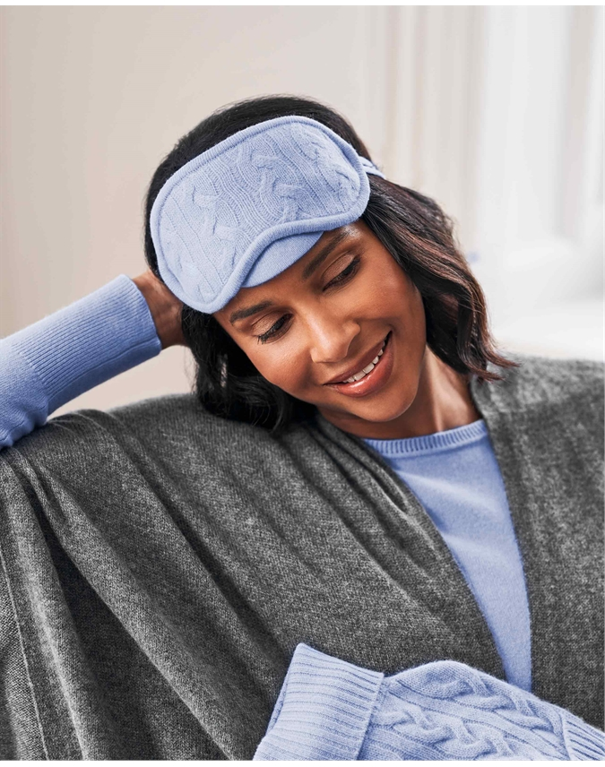 Cashmere Cable Eye Mask