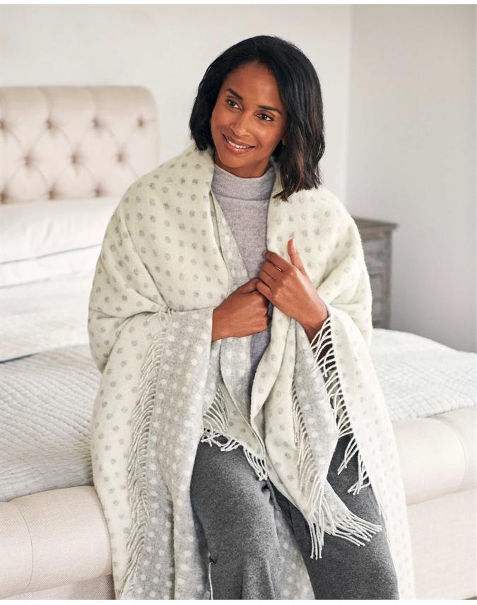 Spot Lambswool Blanket