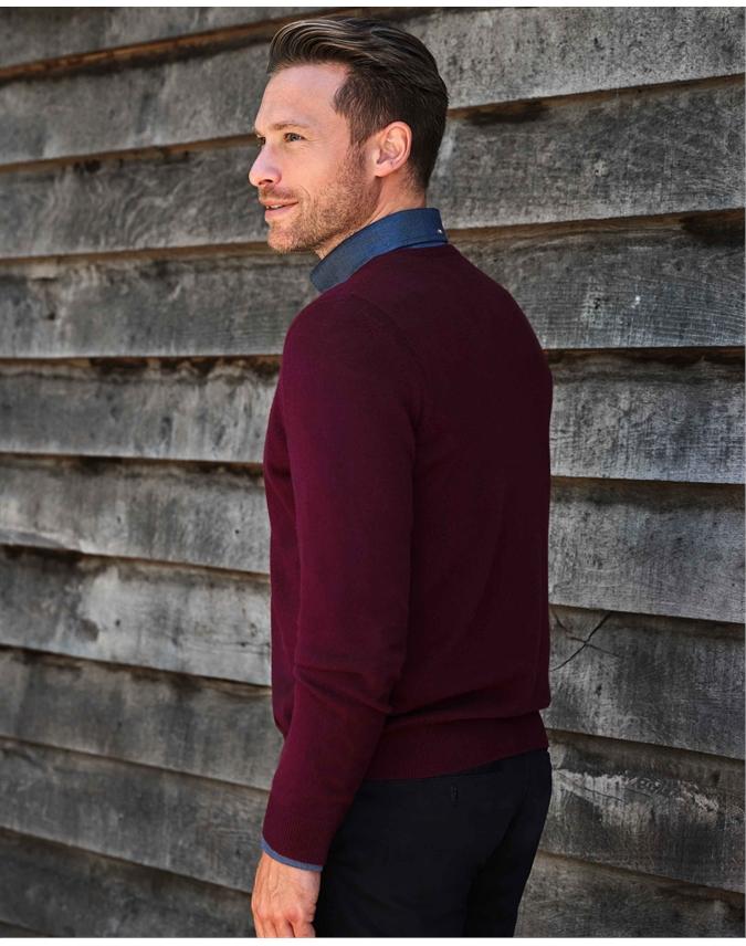 Mens Cashmere V Sweater
