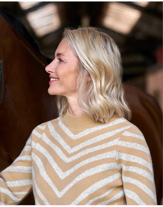 Wool Cashmere Animal Jacquard Sweater