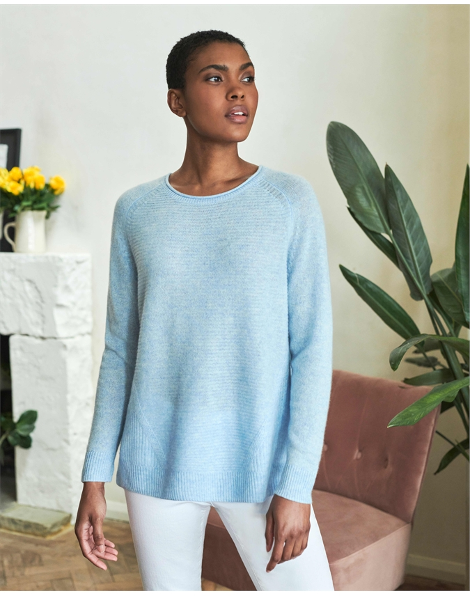 Organic Cashmere Soft Textured Sweater