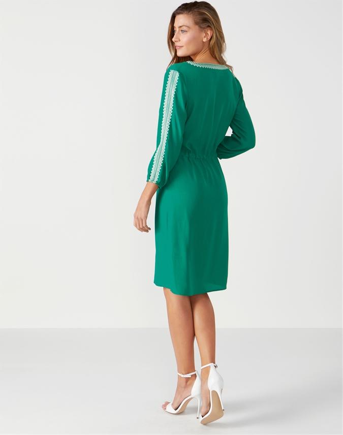 Open V Neck Dress