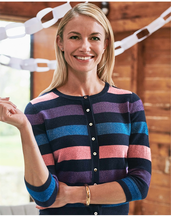 Womens Cashmere Cropped Cardigan