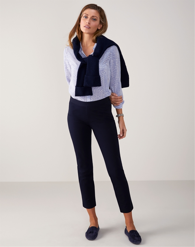 Cotton Stretch Crop Trouser