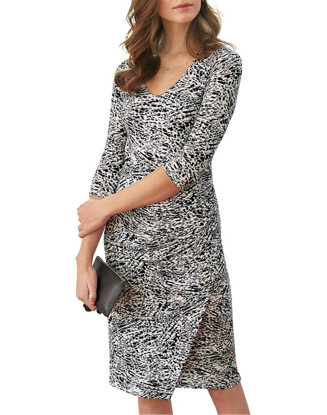 V Neck Jersey Wrap Dress
