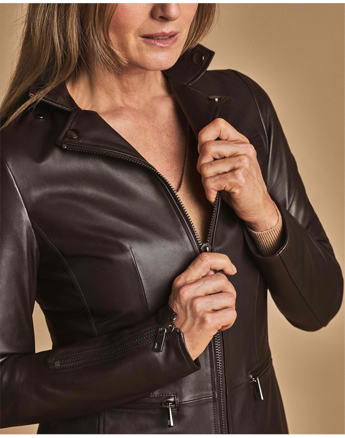 Leather Biker Blazer